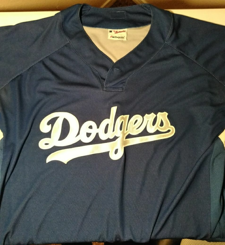 LA Dodgers Pullover Jersey Shirt Size XL