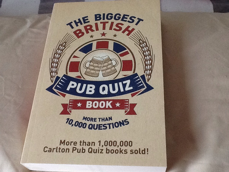 The biggest British pub quiz book