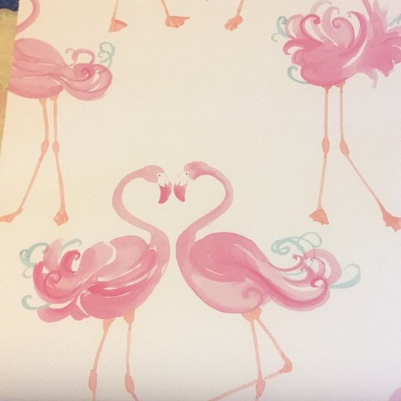 Laura Ashley Pink Flamingo Wallpaper BN