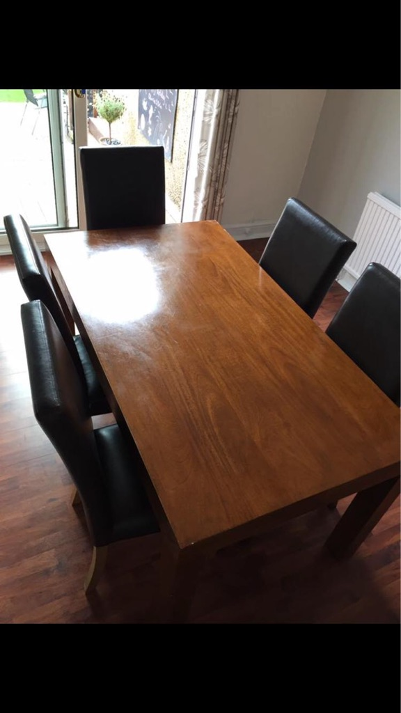 Next dining table with chairs