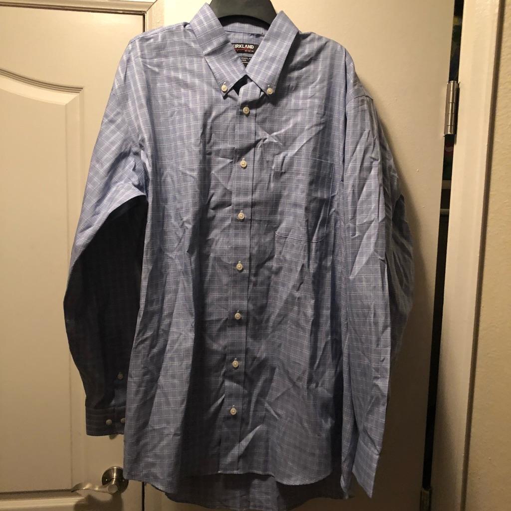 Men's long sleeve button up Kirkland signature shirt