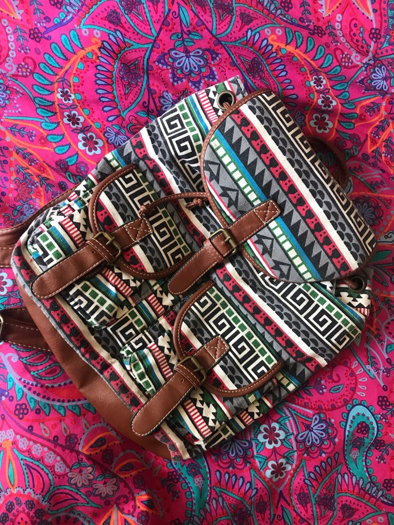 Lightweight Patterned Backpack