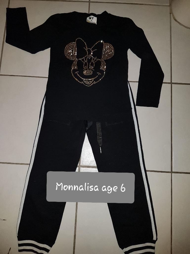 Monnalisa Mickey Mouse 2 piece set age 6