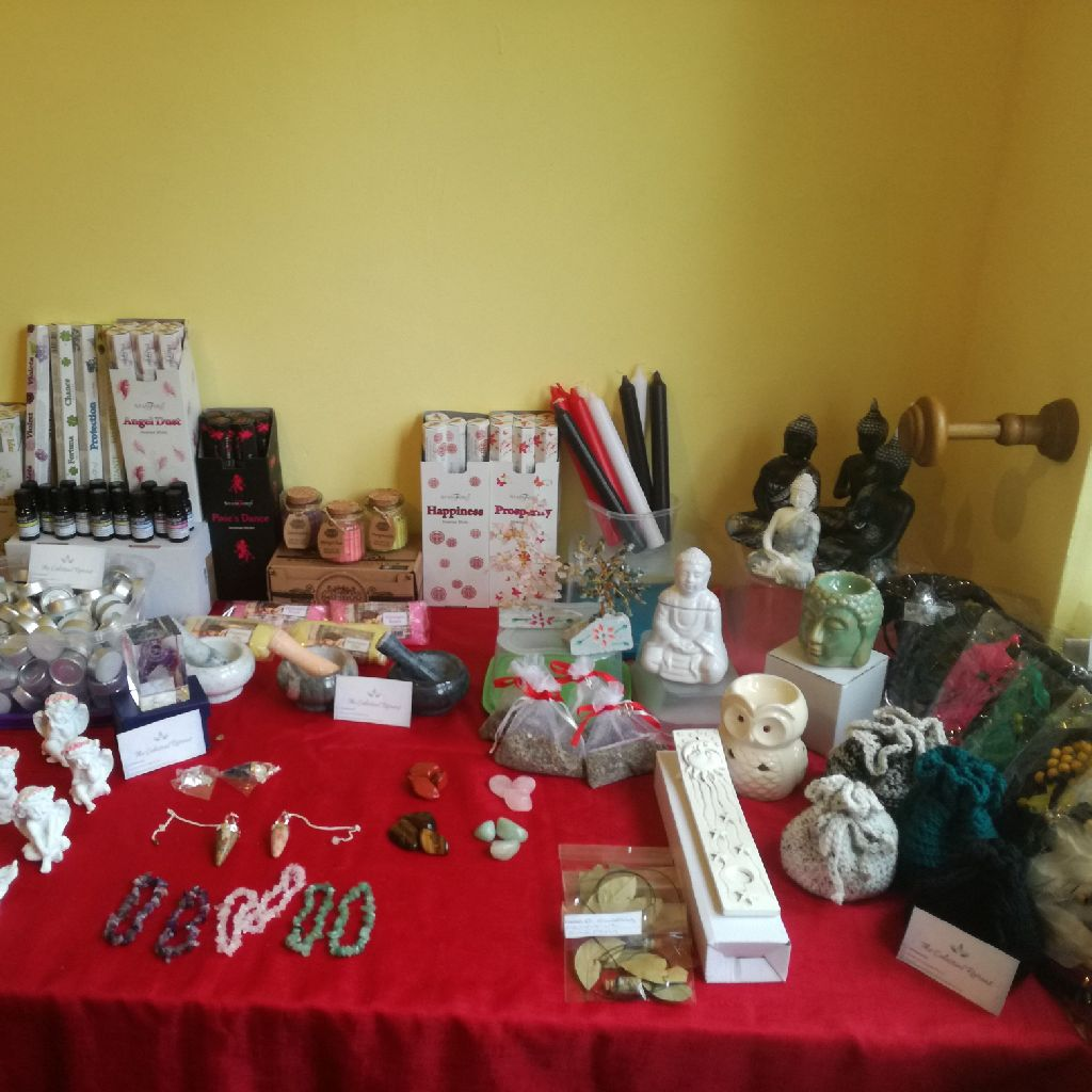 Various metaphysical and new age products.