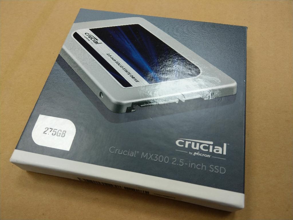 "Crucial MX300 SSD 2.5"" - 275GB"