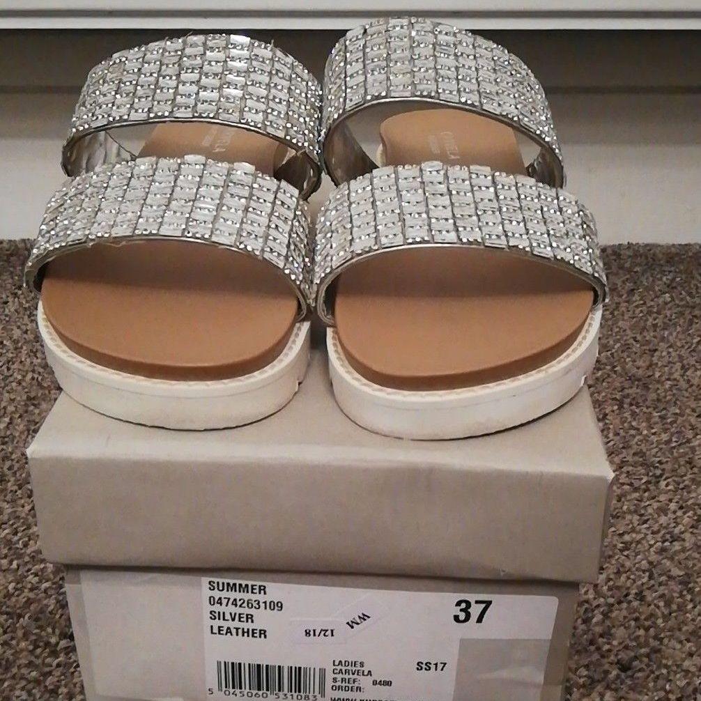 Carvela silver sandals
