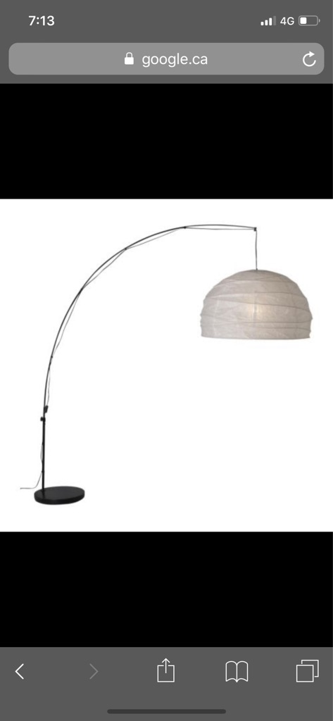 IKEA large arched floor lamp