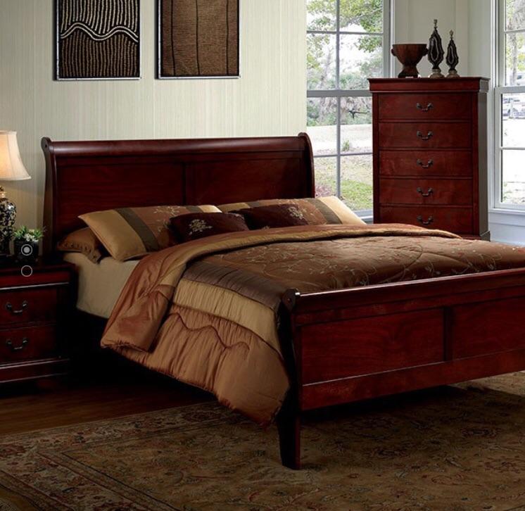 Wood sleigh Bedframe ~ Queen