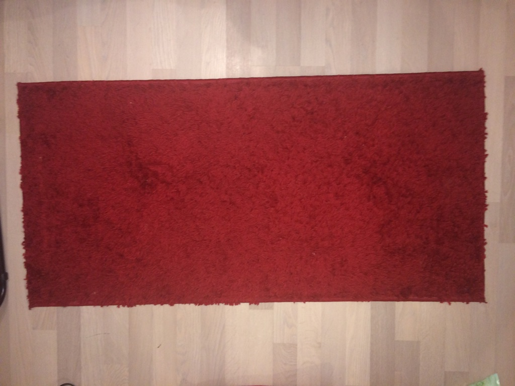 Red rectangle rug