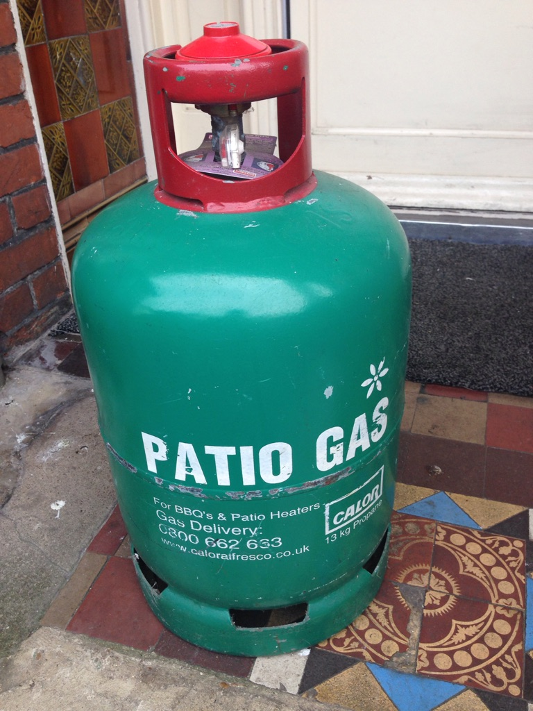 Gas bottle with BBQ £50 ono