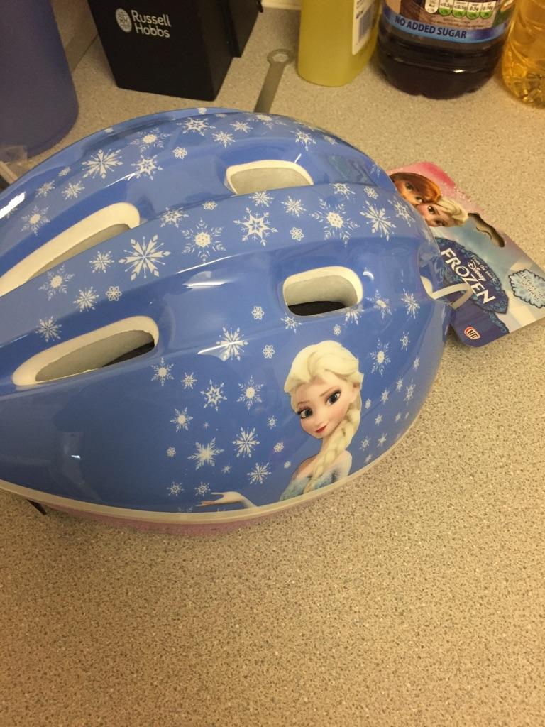 Disney frozen bike helmet crash helmet safety