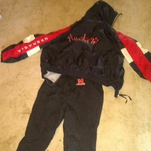 Nebraska sports wind suit