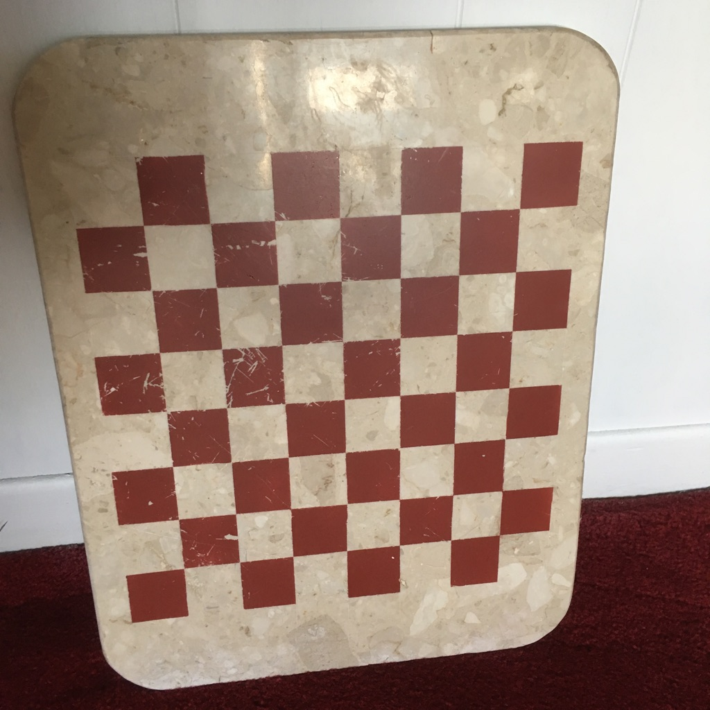 Draughts / Chess board Onyx