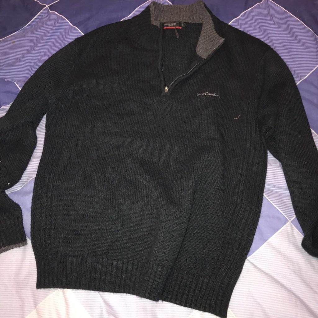 Men's black comfy fleece jacket