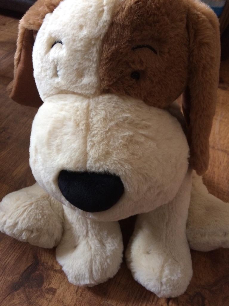 Large dog soft toy