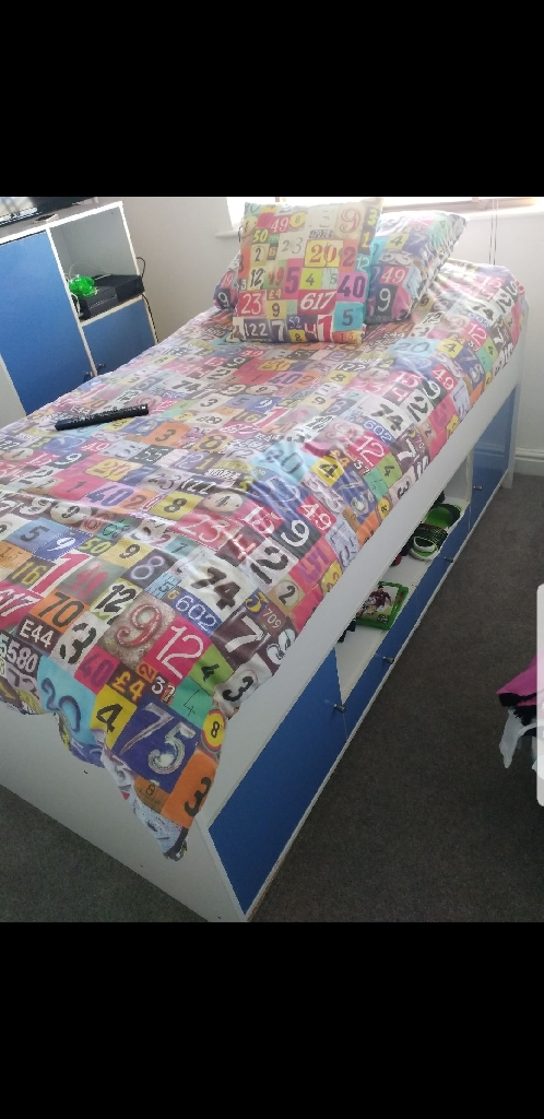 Boys bedroom cabin bed,wardrobe