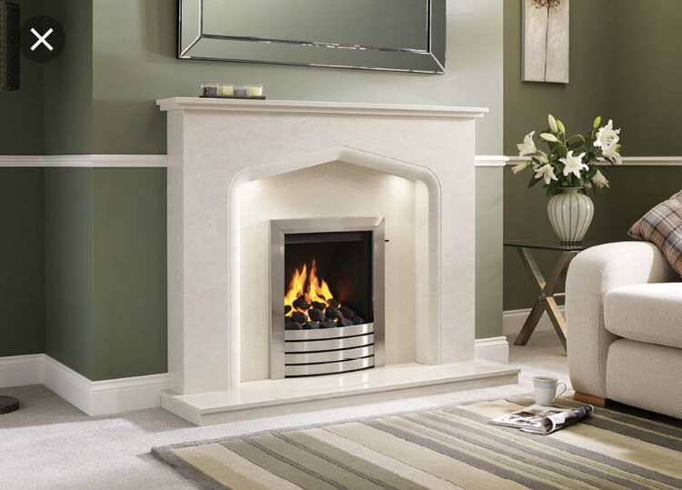 Marble Verdena Fireplace