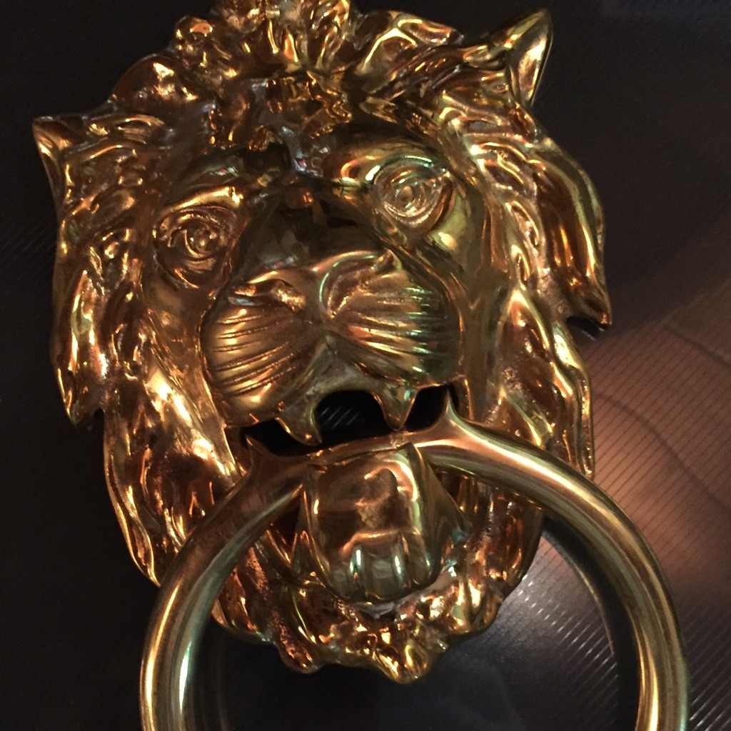 Brass Lion Head Door knocker - Brand New