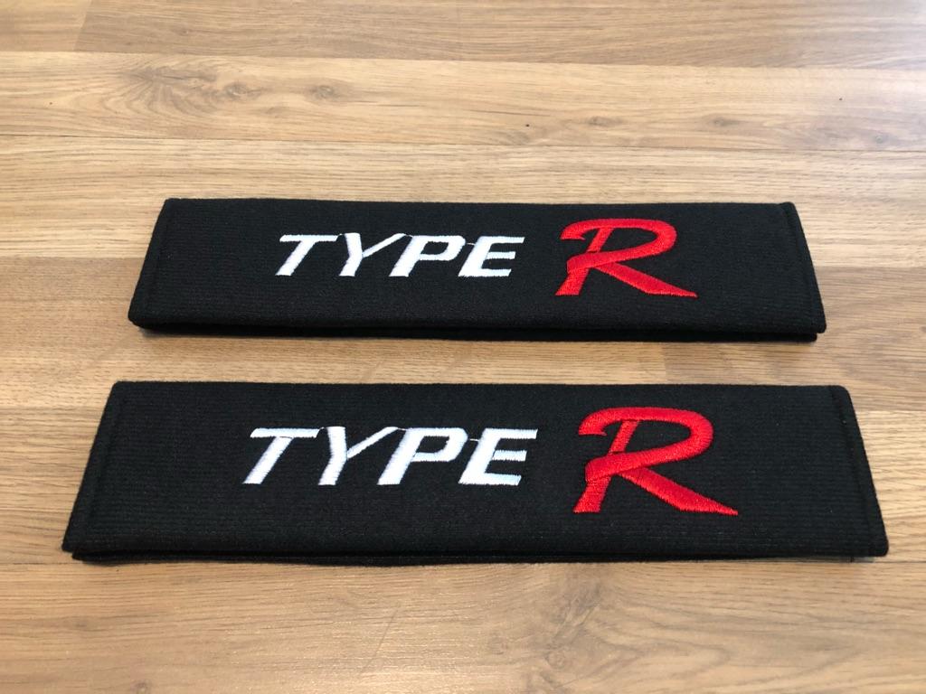 2X Seat Belt Pads Gift Honda Accord Civic TypeR type r CRV CRZ HRV Sport Turbo