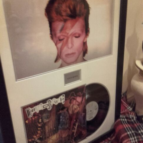 Framed David bowie Lp cover & pic