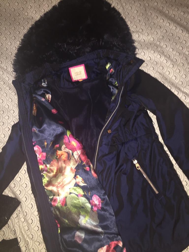 c23e3fa83 ... Ted baker navy blue girls coat aged 10