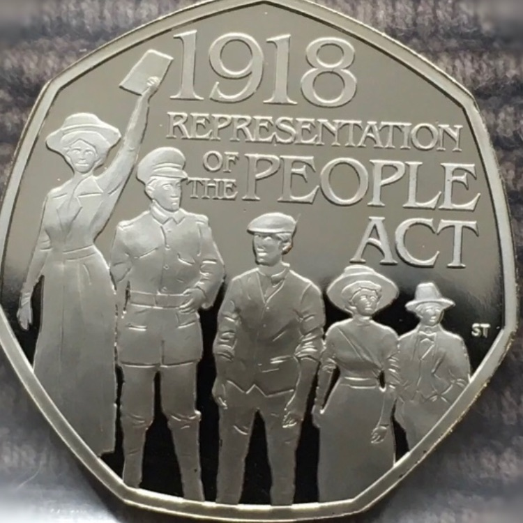50p coin representation of the people act.