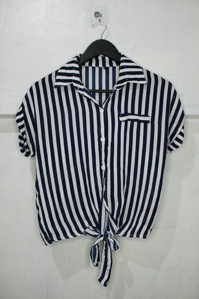 Strippped Blouse with Knot