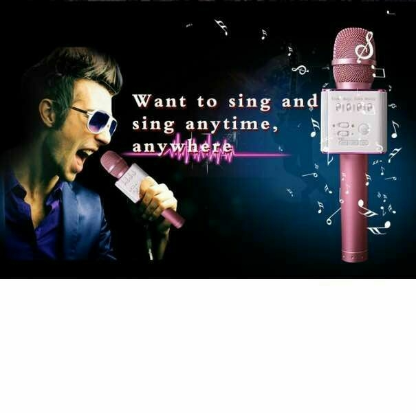 Wireless Karaoke Handheld Microphone USB KTV Player Bluetooth Mic Speaker
