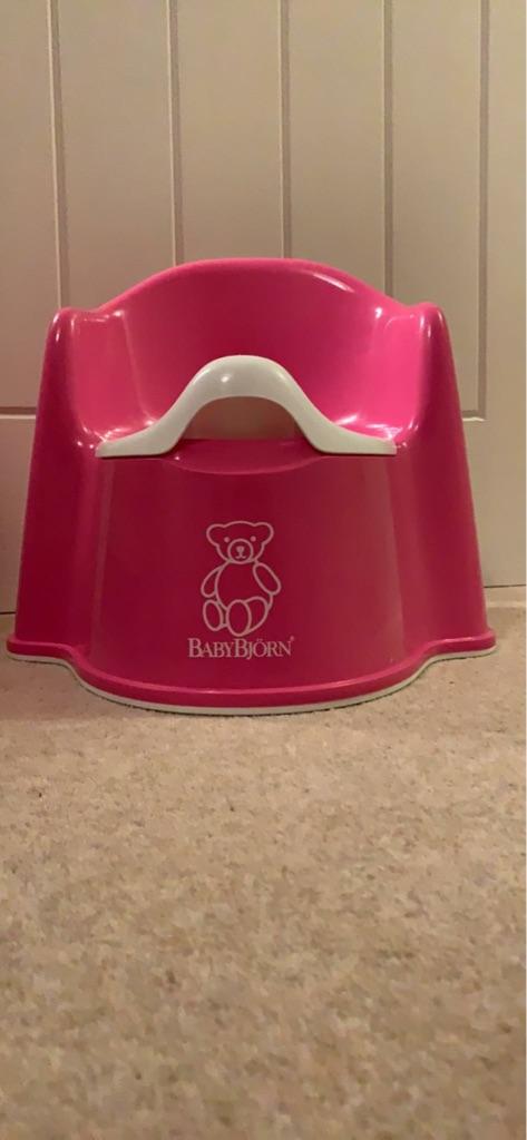 Baby Bjorn Pink Potty Chair