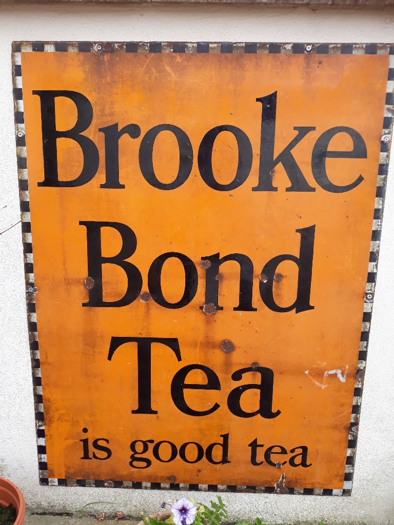 Enamel Brooke Bond Tea sign