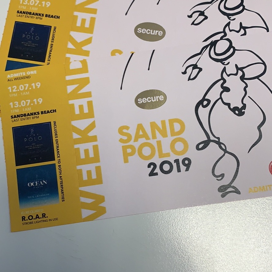 2 weekend Sand Polo Tickets!