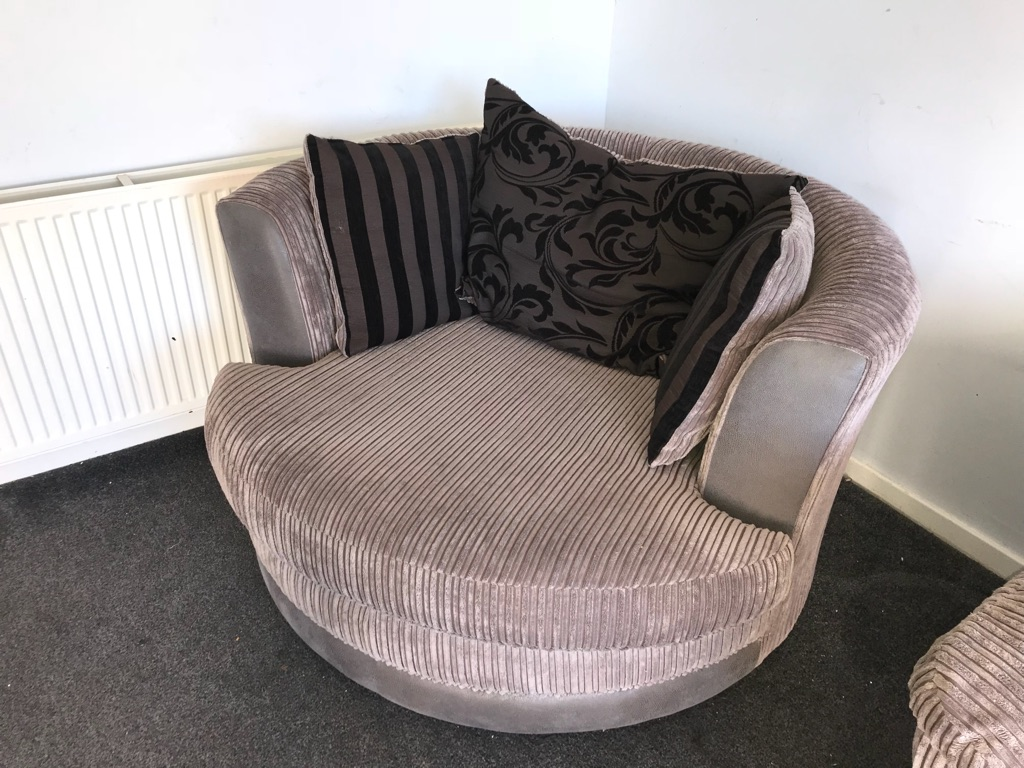 Large right handed corner couch and cuddle chair