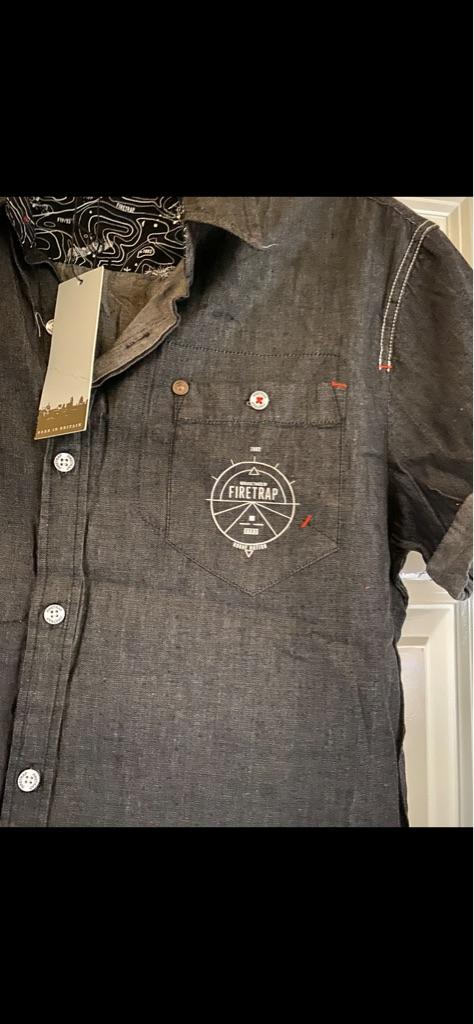 Men's brand new dark grey Firetrap T-Shirt Large