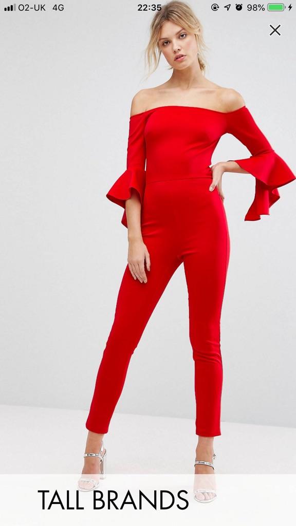 Red Asos Jumpsuit