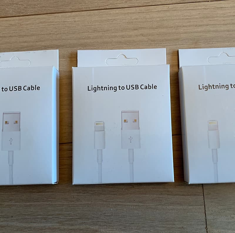 Lightning cables for iPhone. Bnib £3 each