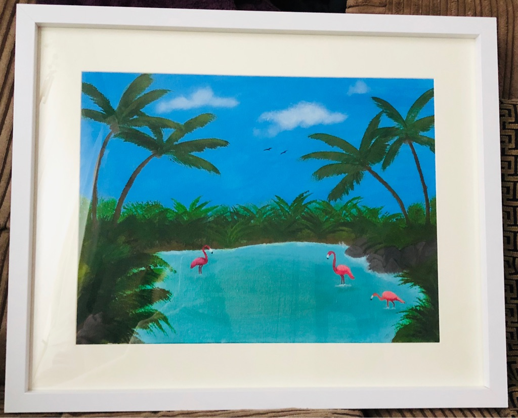 Tropical Lagoon - Original Acrylic Artwork 44x53cm