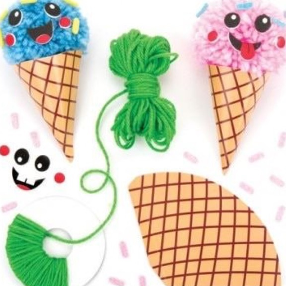 Ice cream Pom Pom (pack of 3)