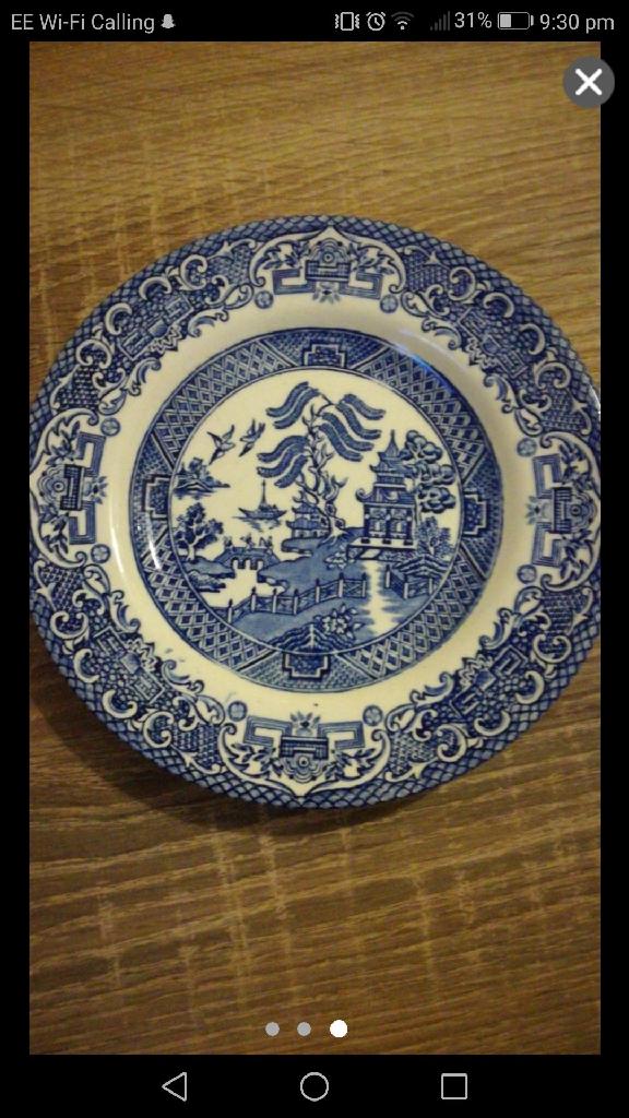 English ironstone tableware plate