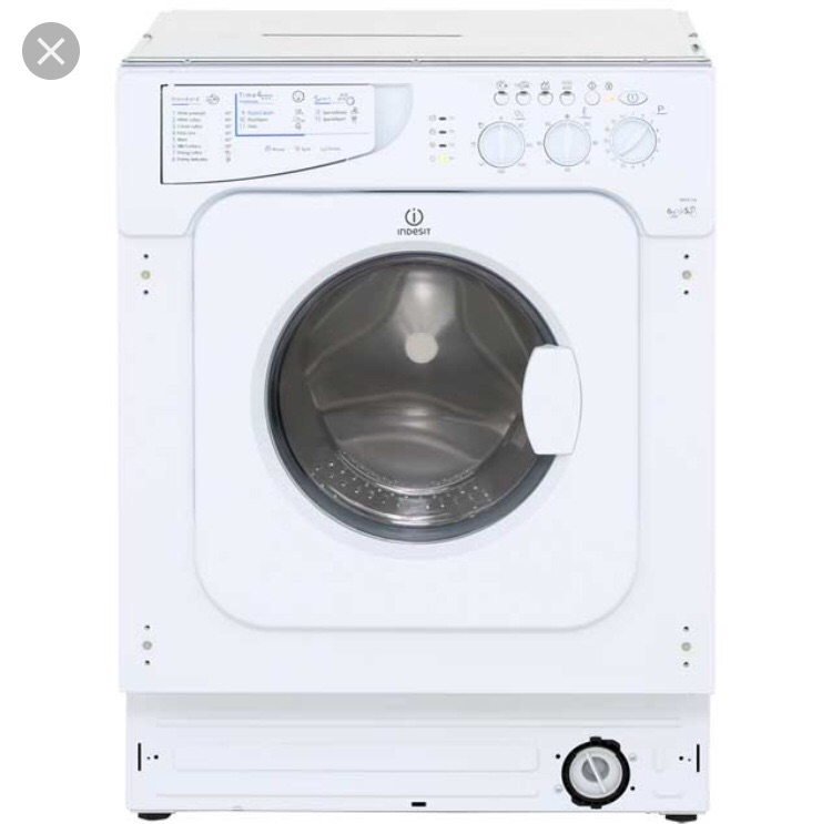 Indesit IWDE126 6kg Wash 5kg Dry 1200rpm Integrated Washer Dryer - White IWDE126