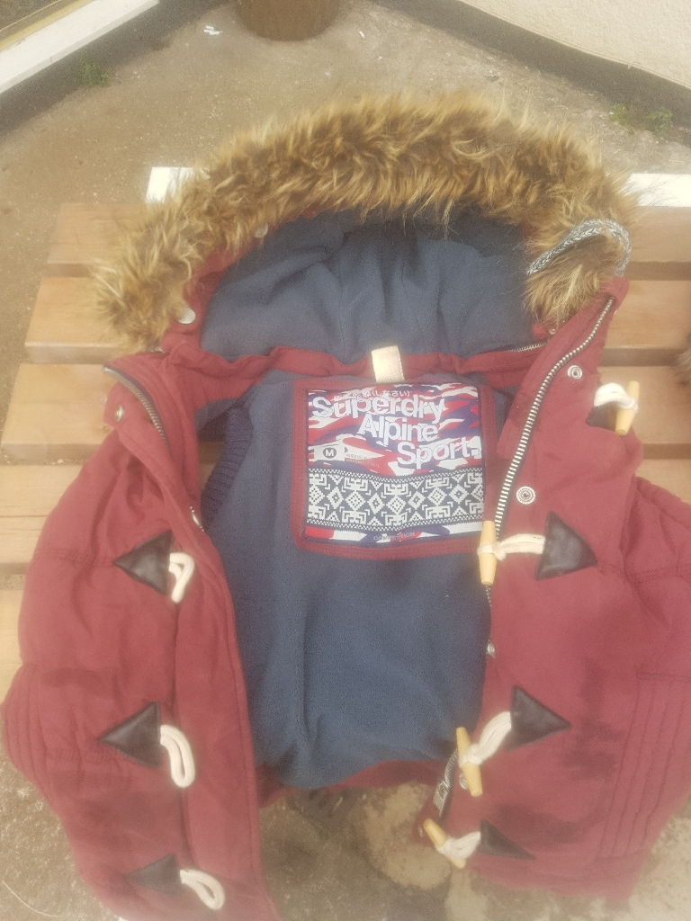 Two SuperDry hoody jackets