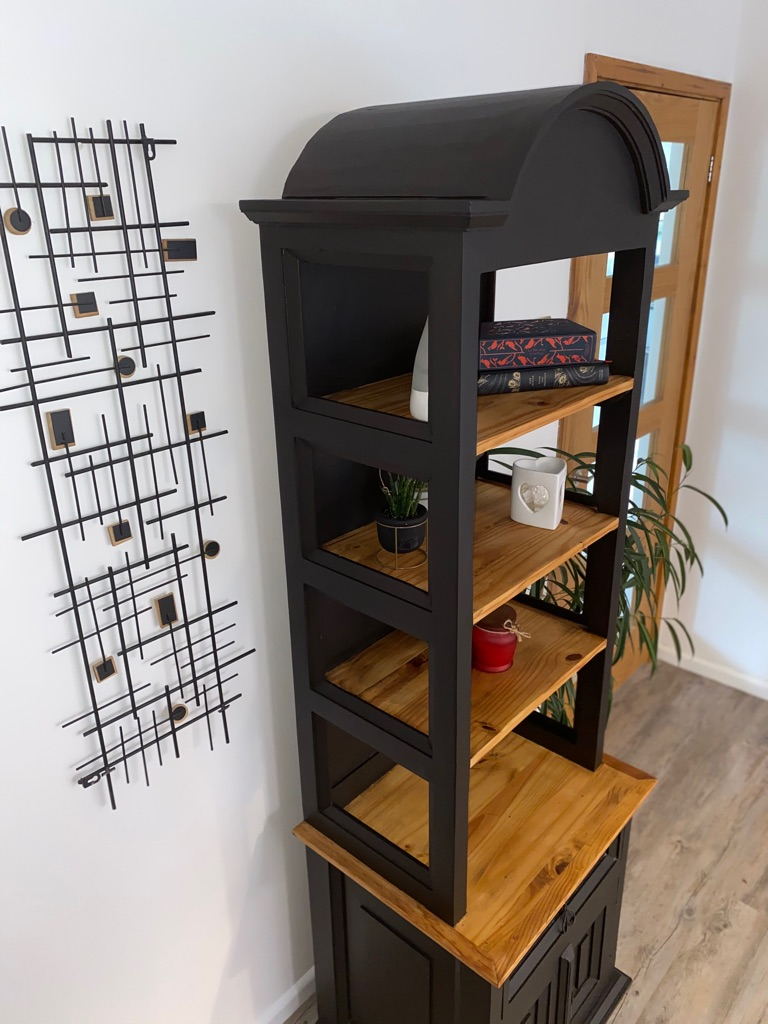 Upcycled display cupboard