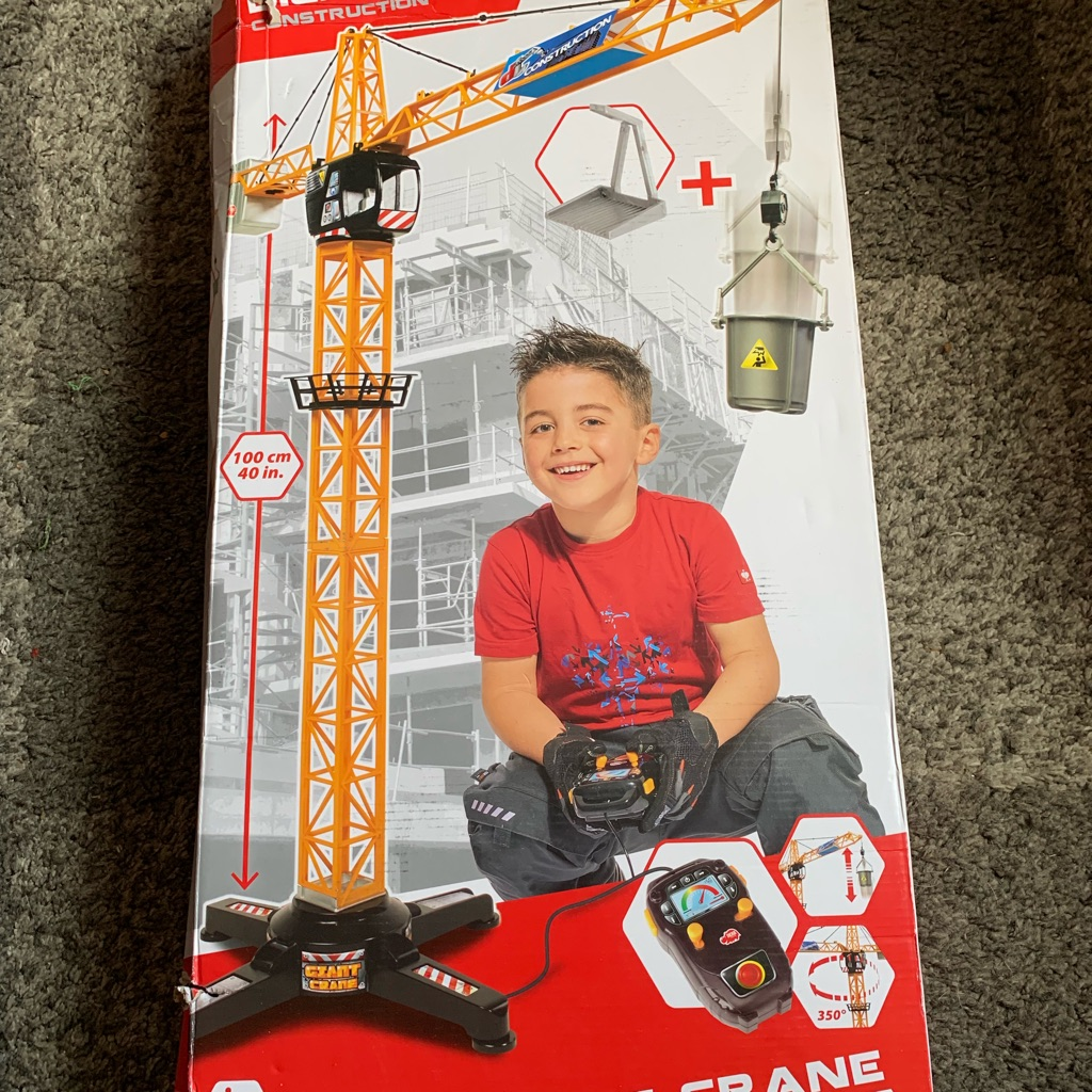 Dickey's toys construction giant crane