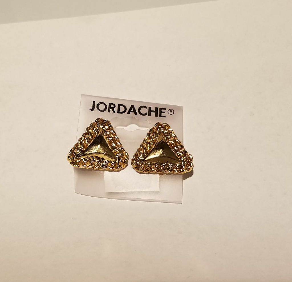 New Triangle Button Earrings