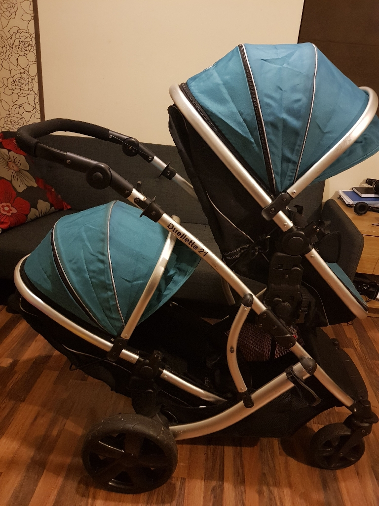 Duellette 21 double twin(or new baby/toddler) pushchair