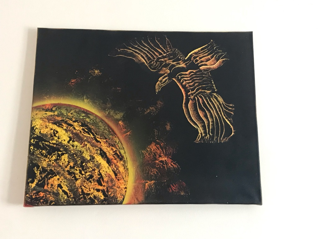 Eagle spray painted picture