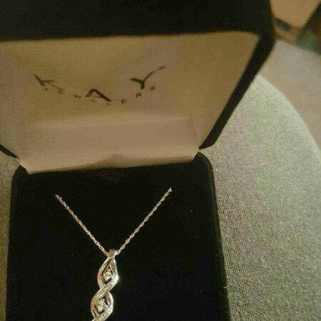 white sterling silver infinity necklace