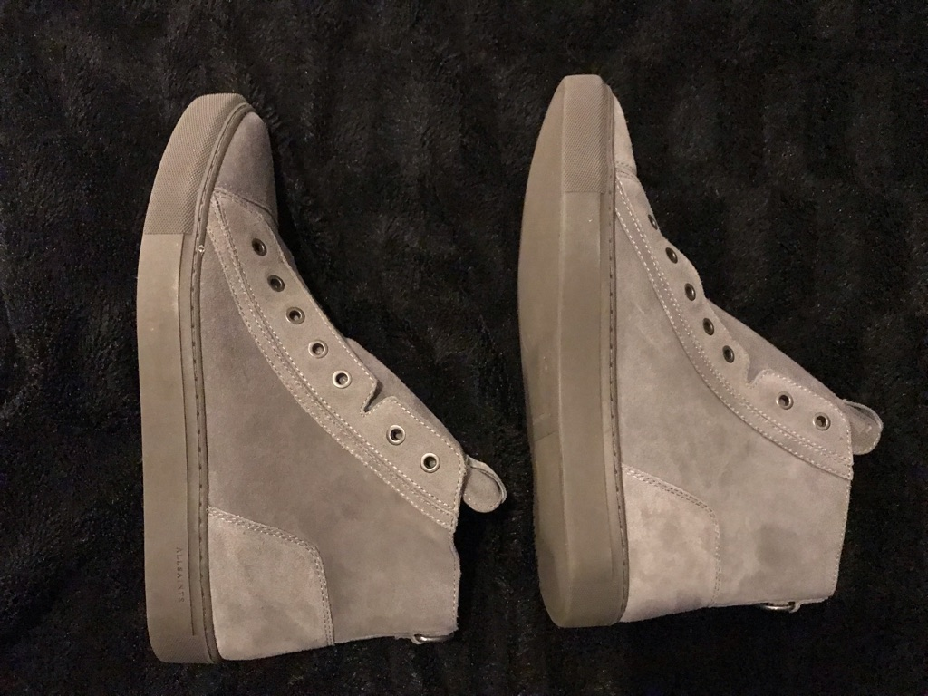 All Saints Mens High Top Suede Trainer Shoes UK 10 Brand New