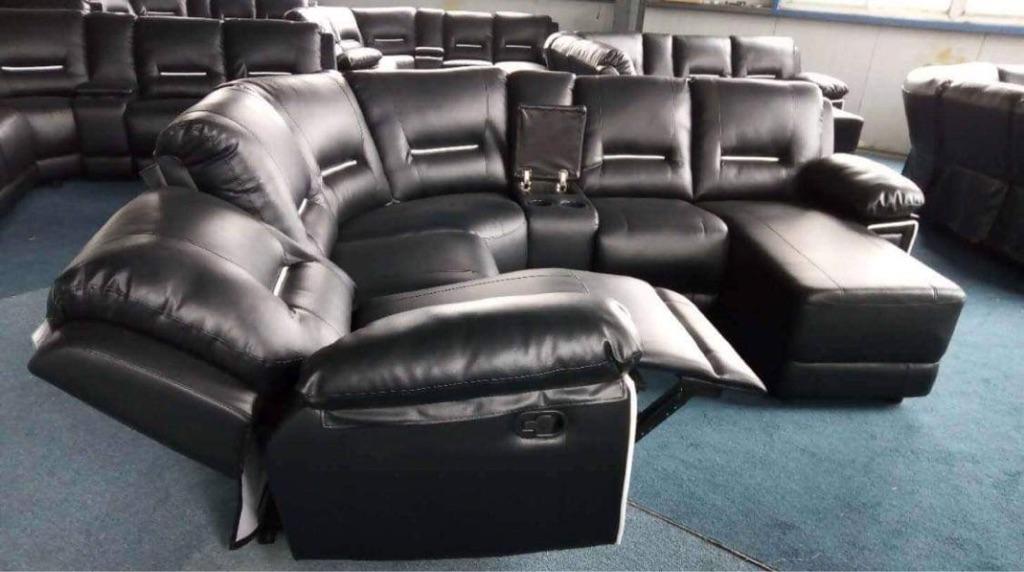 Brand new seina leather corner sofa