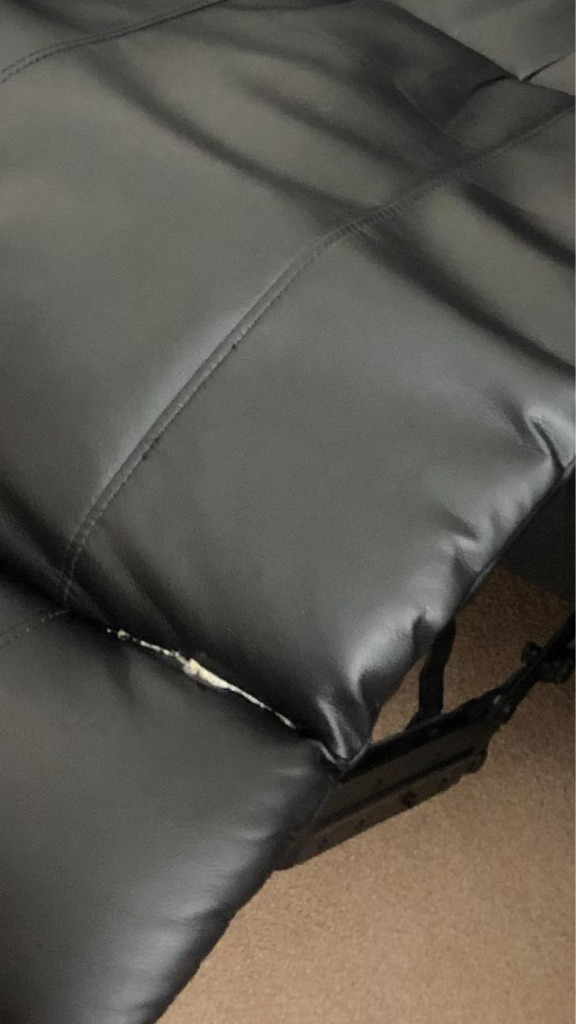 Luxury black recliner sofa