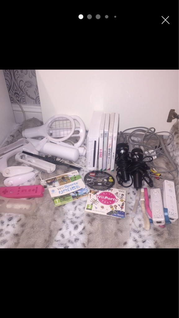 Wii console + games and accessories